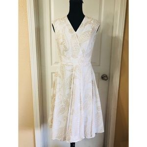 Tommy Hilfiger White Paisley Fit & Flare Dress